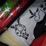 Geschenkpapier mit Elchen für Weihnachten
