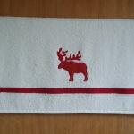 Handtuch mit rotem Elch