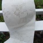 Toilettenpapier mit Elch Aufdrücken