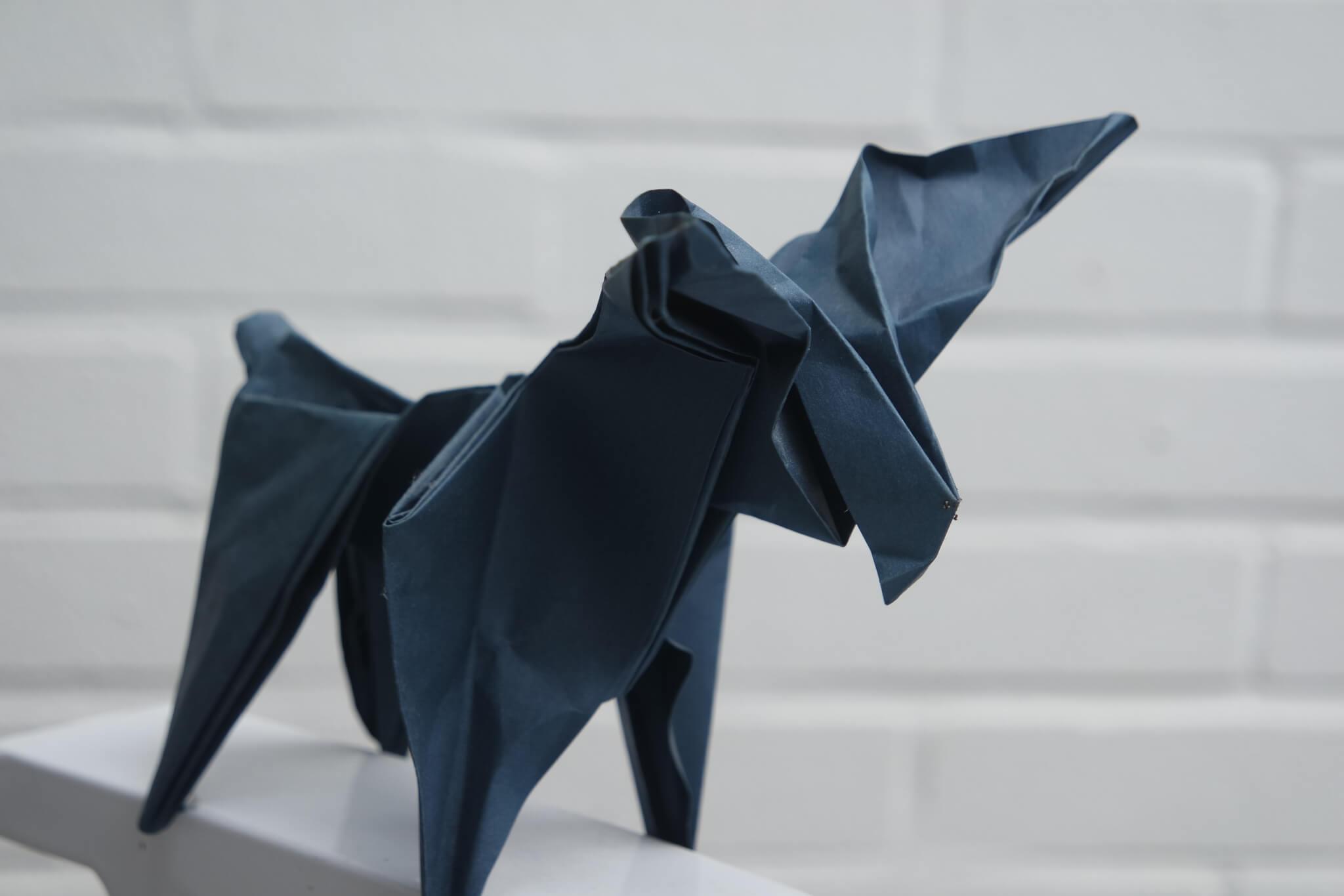 Elch aus Papier gefalltet