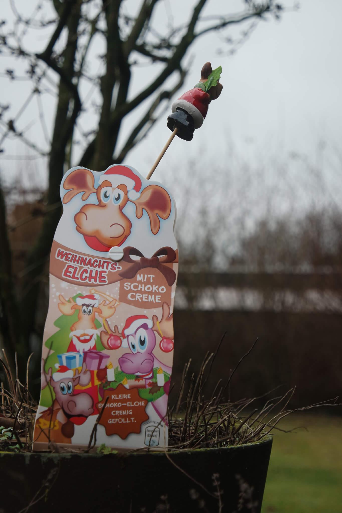 Süßigkeiten für Weihnachten in Elchoptik