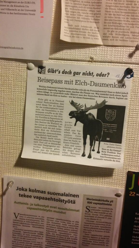 Zeitungsausschnitt über Elche