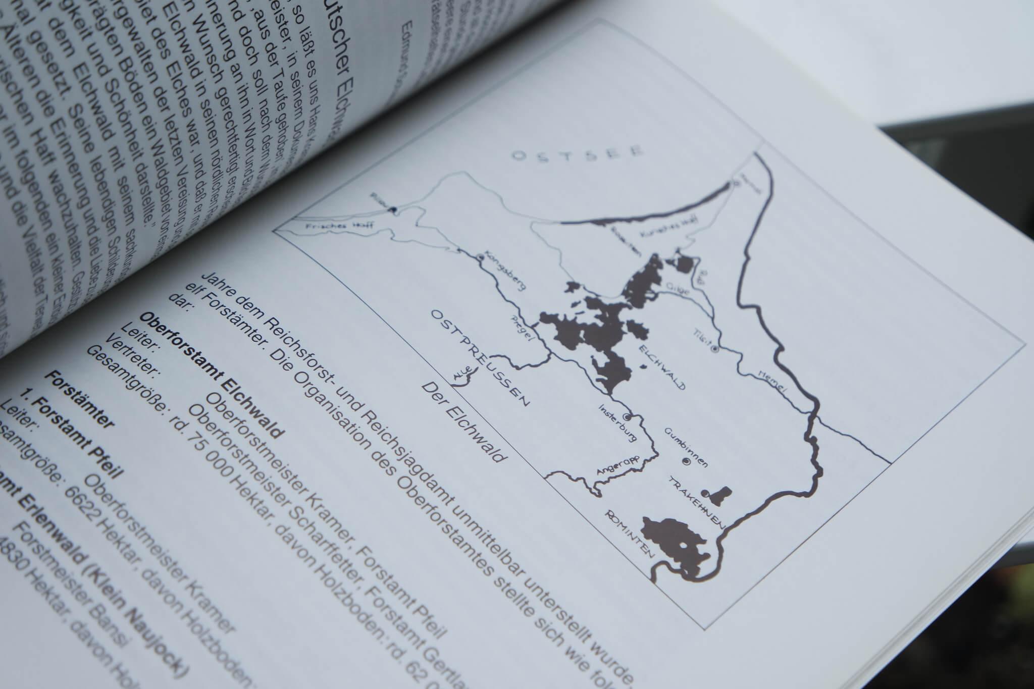 Eine Karte aus dem Buch, Im Land der Elche
