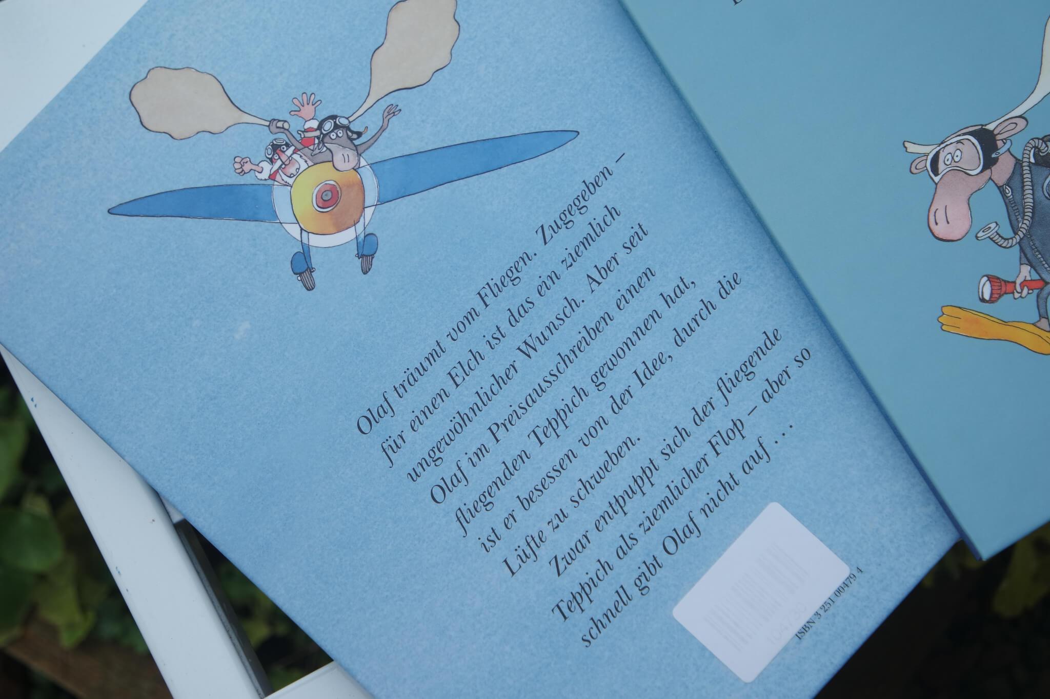 Rückseite der Olaf Bücher