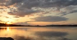Wunderbarer Sonnenuntergang in Neuengland