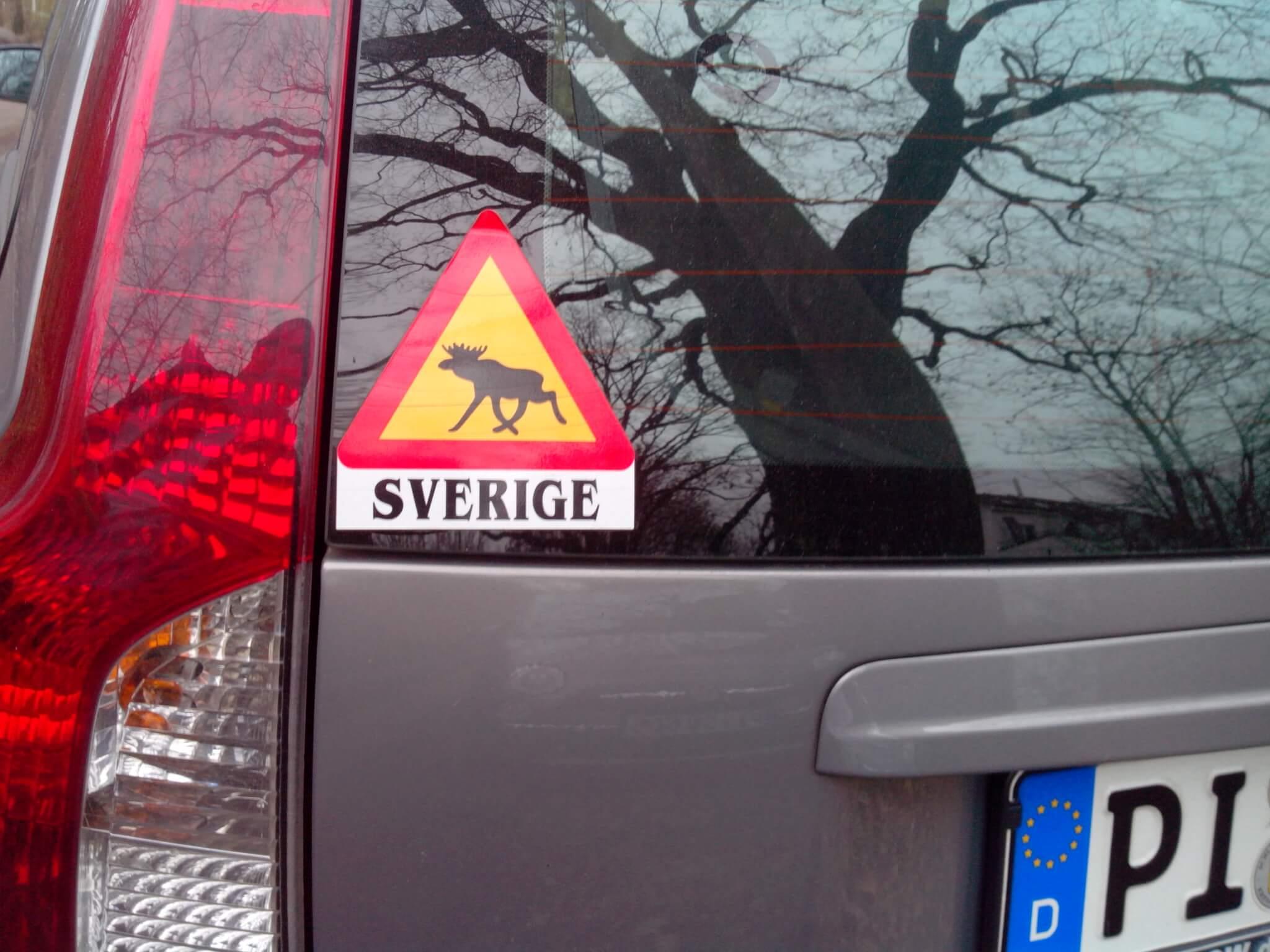 Ein schwedischer Elch Aufkleber