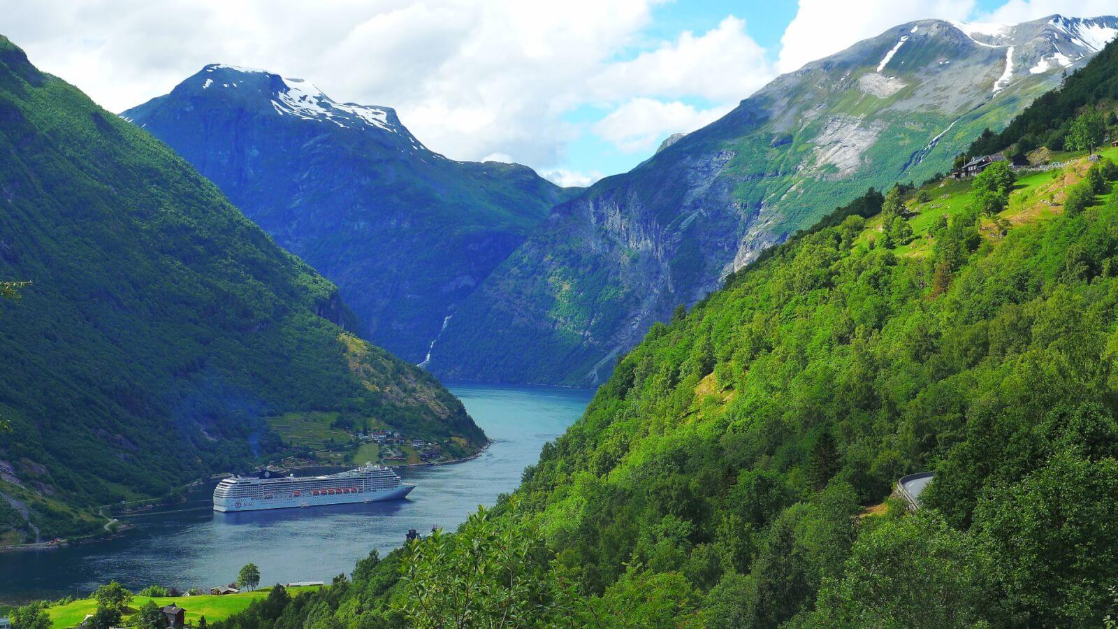 Wunderbarer Fjord in Norwegen