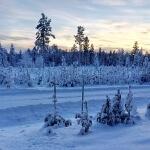 Die Winterlandschaft Schwedens