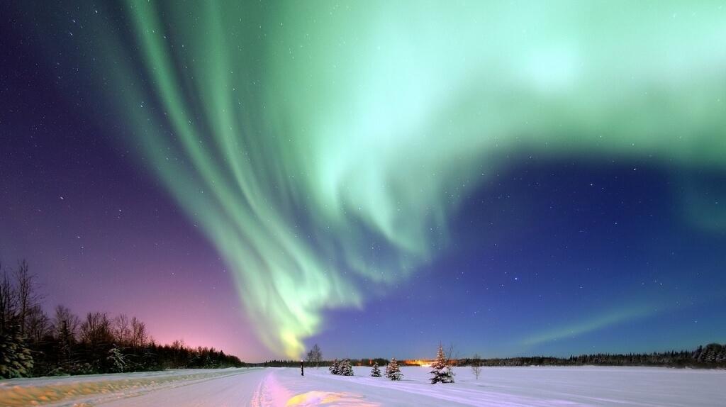 Eine wunderbare Nacht in Alaska mit den Nordlichtern